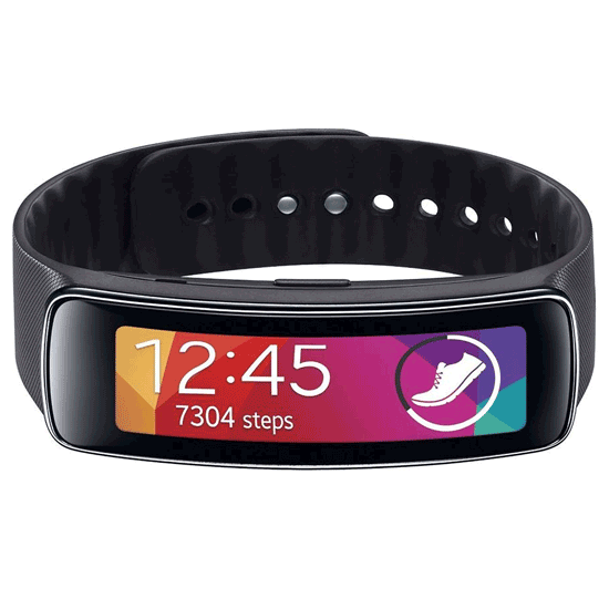 Samsung Gear Fit Smartwatch (Charcoal Black)